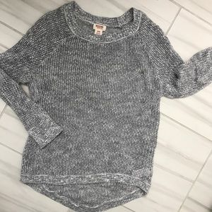 Gray, light-weight stretchy sweater